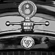 1928 Dodge Brothers Hood Ornament - Moto Meter Art Print by Jill Reger