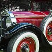 1928 Hupmobile Century Model E4 4 Door Sedan Art Print