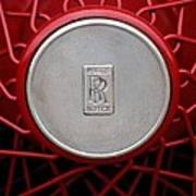 1928 Rolls-royce Phantom I Sedenca De Ville Wheel Emblem Art Print