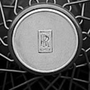 1928 Rolls-royce Spoke Wheel Art Print