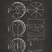 1929 Basketball Patent Artwork - Gray Art Print