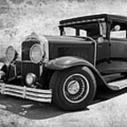 1929 Buick Black And White Art Print