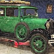 1929 Ford Model A By Liane Wright Art Print