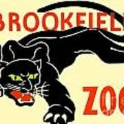 1930 - Brookfield Zoo Poster - Boston - Color Art Print
