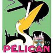 1930 - Pelican Cigarettes French Advertisement Poster - Color Art Print