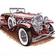1930 Dusenberg Model J Art Print