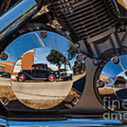 1930 Ford Reflected In 2005 Honda Vtx Art Print
