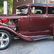 1930 Ford Two Door Sedan Side View Art Print