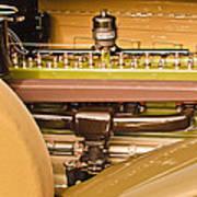 1930 Packard Speedster Runabout Engine -0539c Art Print