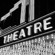 1930s 1940s Theater Marquee Theatre Art Print