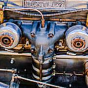 1931 Bentley 4.5 Liter Supercharged Le Mans Engine Emblem Art Print