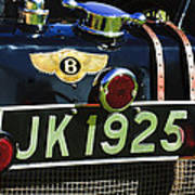 1931 Bentley 4.5 Liter Supercharged Le Mans Taillight Emblem Art Print