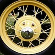 Antique Car Tire Rim Art Print