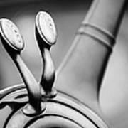 1931 Lincoln K Steering Wheel - Spark - Gas Controls -1865bw Art Print