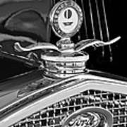 1931 Model A Ford Deluxe Roadster Hood Ornament 2 Art Print