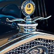 1931 Model A Ford Deluxe Roadster Hood Ornament Art Print