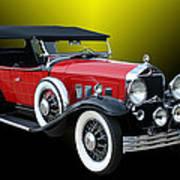 1931 Willys Knight Plaid Side Art Print