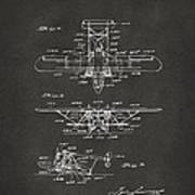 1932 Amphibian Aircraft Patent Gray Art Print