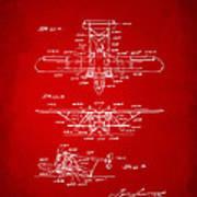 1932 Amphibian Aircraft Patent Red Art Print