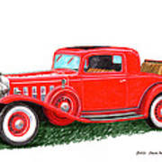 1932 Cadillac Rumbleseat Coupe Art Print