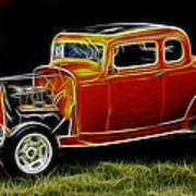 1932 Ford Fenderless Coupe Art Print