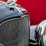 1932 Ford V8 Grille - Hood Ornament Art Print