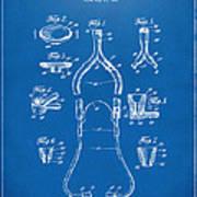 1932 Medical Stethoscope Patent Artwork - Blueprint Art Print