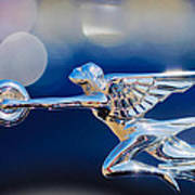 1932 Packard 12 Convertible Victoria Hood Ornament -0251c Art Print