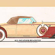 1932 Packard All Weather Roadster By Dietrich Concept Art Print