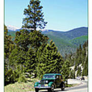 1932 Packard Eight Sedan Cresting Bob Cat Pass Art Print