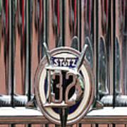 1932 Stutz Dv-32 Super Bearcat Emblem Art Print by Jill Reger