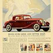 1933 - Buick Coupe Advertisement - Color Art Print