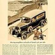 1933 - Chevrolet Commercial Automobile Advertisement - Old Gold Cigarettes - Color Art Print