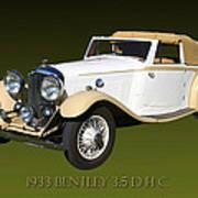 1933 Bentley 3  5  Liter Drop Head Coupe Art Print