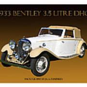 Bentley Derby D H C  Art Print