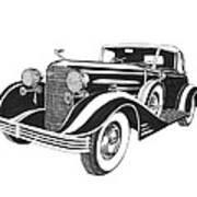 Cadillac Victoria V 16 Convertible Art Print