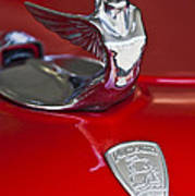 1933 Plymouth Hood Ornament Art Print by Jill Reger