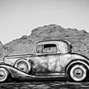 1933 Pontiac -0008bw Art Print