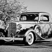 1933 Pontiac -0011bw Art Print
