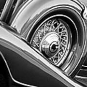 1933 Pontiac Spare Tire -0431bw Art Print