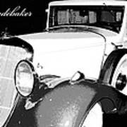 1933 Studebaker Digital Art Art Print