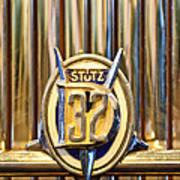 1933 Stutz Dv-32 Five Passenger Sedan Emblem Art Print