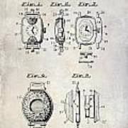 1933 Watch Case Patent Drawing  Art Print