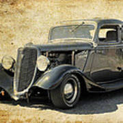 1934 Ford Five Window Coupe Art Print