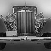 1934 Packard Black And White Art Print