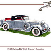 1934 Packard Twelve 1107 Coupe Art Print