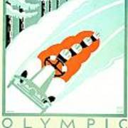 1935 - Lake Placid - New York - Travel Poster - Color Art Print