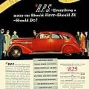 1935 - Nash Aeroform Automobile Advertisement - Color Art Print