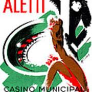 1935 Hotel Aletti Casino Algeria Art Print