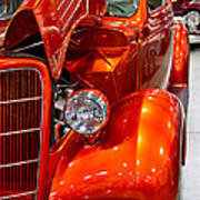 1935 Orange Ford-front View Art Print